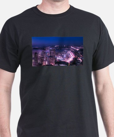 Purple Seattle Panorama T-Shirt