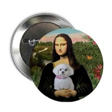 Mona's Maltese (R) Button