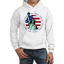 Statue of Liberty American flag Hoodie
