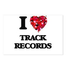 I love Track Records Postcards (Package of 8)