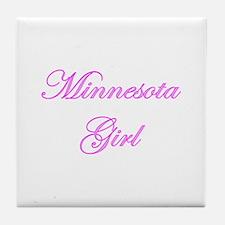 Minnesota Girl Tile Coaster