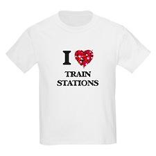 I love Train Stations T-Shirt
