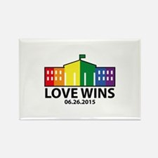 Love Wins Rectangle Magnet