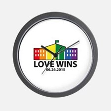 Love Wins Wall Clock