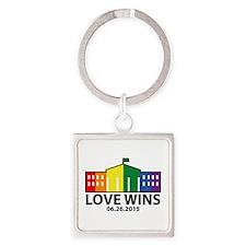 Love Wins Square Keychain