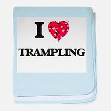I love Trampling baby blanket