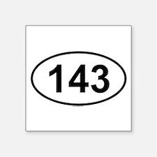 """Cute Numbers Square Sticker 3"""" x 3"""""""