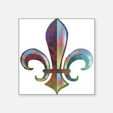 "Unique Fleur de lis Square Sticker 3"" x 3"""