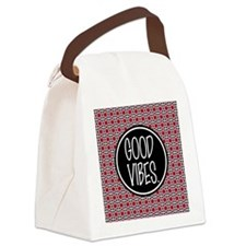 Good Vibes Expression Typography Canvas Lunch Bag