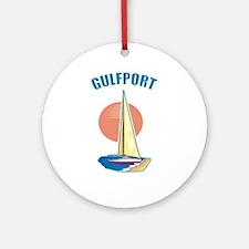 Gulfport, Mississippi Ornament (Round)