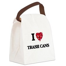 I love Trash Cans Canvas Lunch Bag
