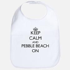 Keep calm and Pebble Beach California ON Bib