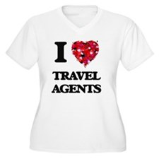 I love Travel Agents Plus Size T-Shirt