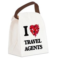 I love Travel Agents Canvas Lunch Bag