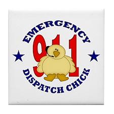 Dispatcher Chick Tile Coaster