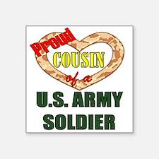 """Cute Army cousin Square Sticker 3"""" x 3"""""""