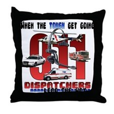 Dispatchers lead the way Throw Pillow