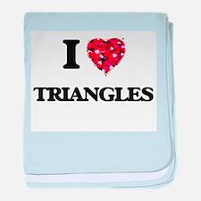I love Triangles baby blanket