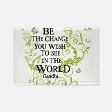 Funny Be the change you want to see in the world Rectangle Magnet (10 pack)