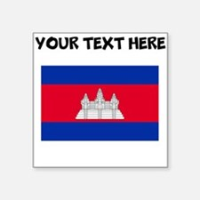 Custom Cambodia Flag Sticker