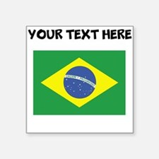 Custom Brazil Flag Sticker