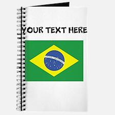 Custom Brazil Flag Journal