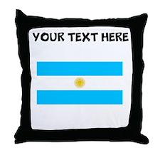Custom Argentina Flag Throw Pillow