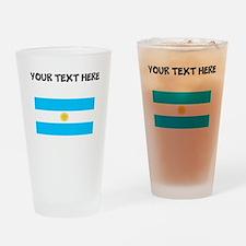 Custom Argentina Flag Drinking Glass