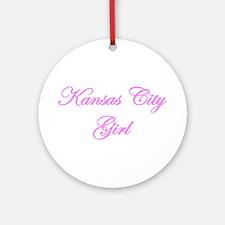Kansas City Girl Ornament (Round)