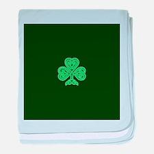 Celtic Shamrock - St Patricks Day baby blanket
