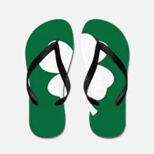 St Patricks Day Shamrock Flip Flops