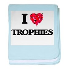 I love Trophies baby blanket