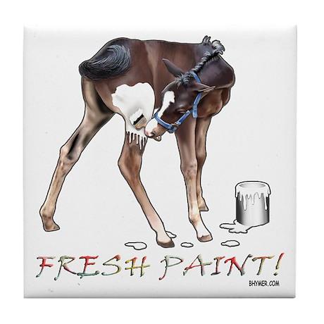 Fresh Paint (W) Tile Coaster