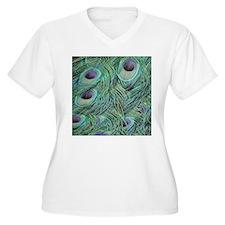 Peafowl Feathers Plus Size T-Shirt