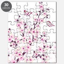 Cherry Blossoms And Butterflies Puzzle