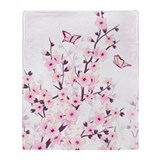 Cherry blossom Fleece Blankets