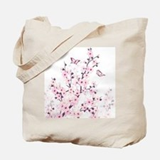 Cherry Blossoms And Butterflies Tote Bag