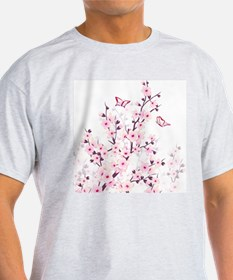 Cherry Blossoms And Butterflies T-Shirt