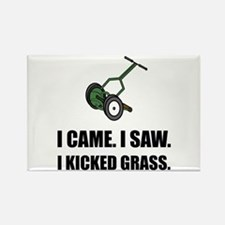 Came Saw Kicked Grass Magnets