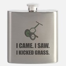 Came Saw Kicked Grass Flask