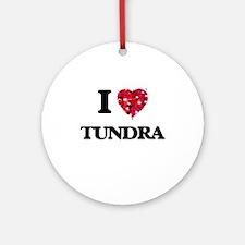 I love Tundra Ornament (Round)