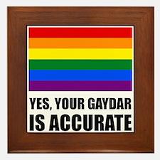 Gaydar Is Accurate Framed Tile
