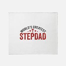 World's Greatest Stepdad Throw Blanket