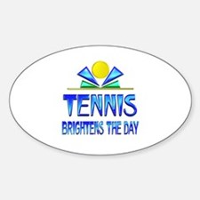 Tennis Brightens the Day Decal