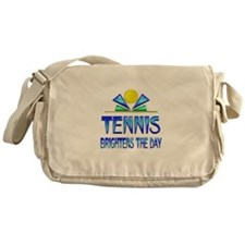 Tennis Brightens the Day Messenger Bag