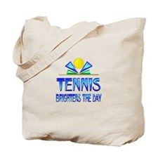 Tennis Brightens the Day Tote Bag