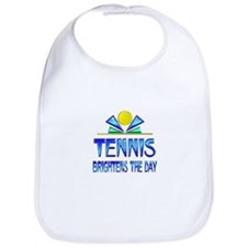 Tennis Brightens the Day Bib