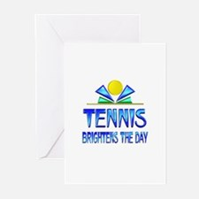 Tennis Brightens the Day Greeting Cards (Pk of 20)
