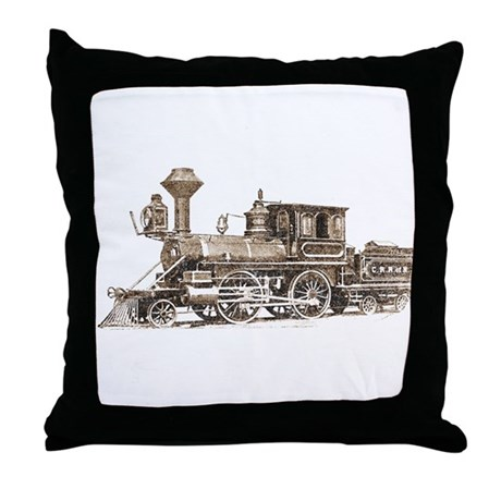 Classic Train Throw Pillow