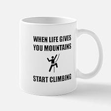 Mountains Start Climbing Mugs